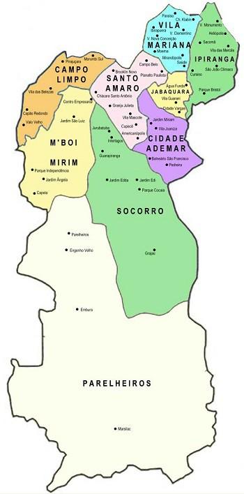 Mapa Guincho Zona Sul