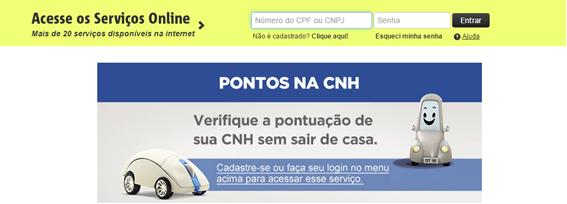 pontuação CNH