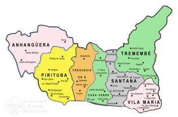 Mapa Guincho Zona Norte